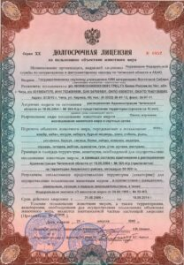 Лицензия Курулга